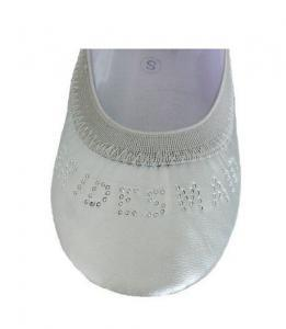 Silver Bridesmaid Fold-up Ballet Flats shoe