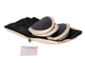 Beige Fold-up Flats and bag