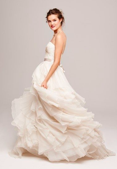 Floating organza wedding dress