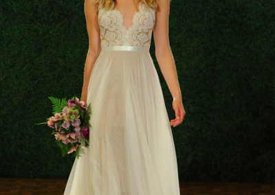 Lace and tulle wedding dress a-line