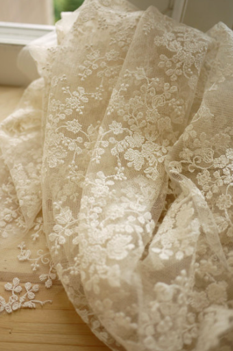 Lace wedding fabric