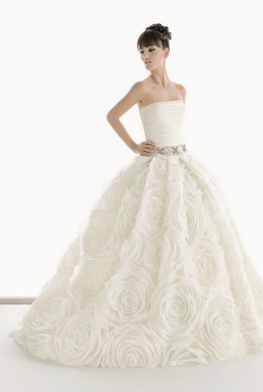 Organza big rose dress