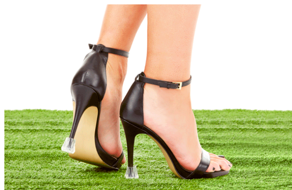 Clear, transparent high heel protectors for stiletto shoes