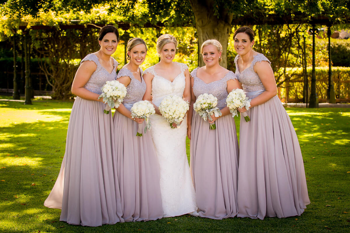 Custom bridesmaid dresses silver blush