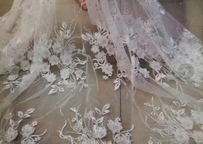 Custom Wedding Dress Lace Design