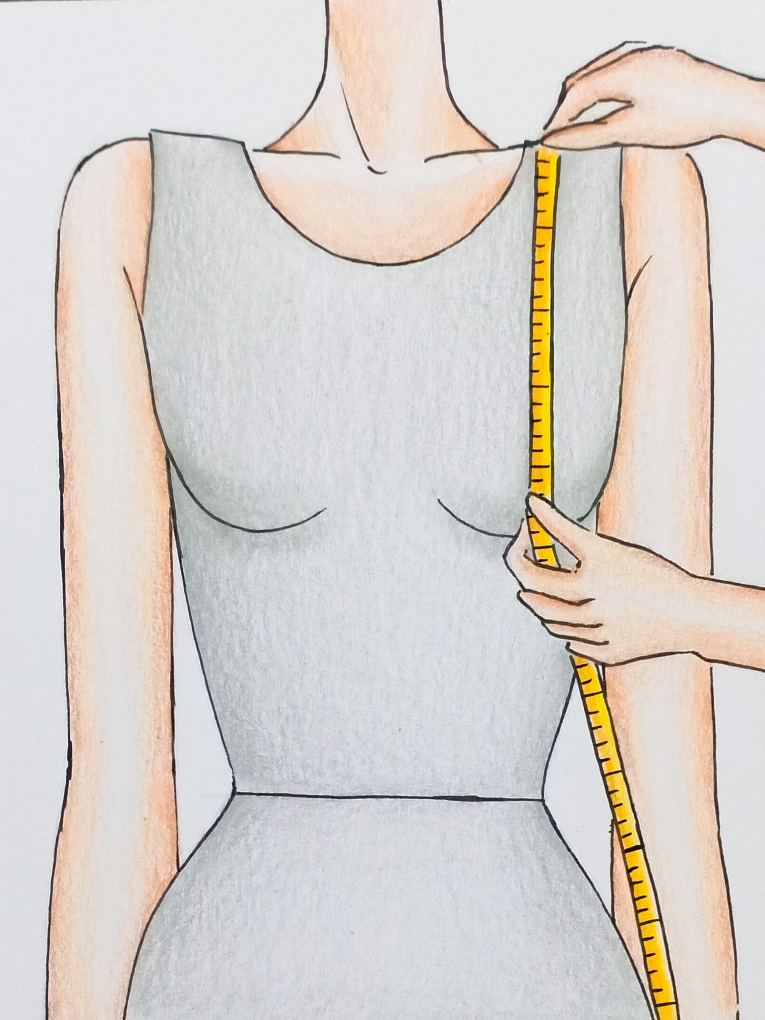 Shoulder to Bust Measuring