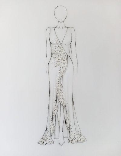 Ziva Wedding Dresses Sketch